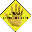 Stock Photo: Under construction symbol