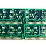 Backside of computer ram memory — Stock Photo