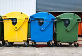 Plastic bins in recycle center — Stock Photo