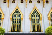 Tajski stylu okna świątyni — Zdjęcie stockowe