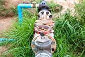Vecchia valvola idraulica — Foto Stock