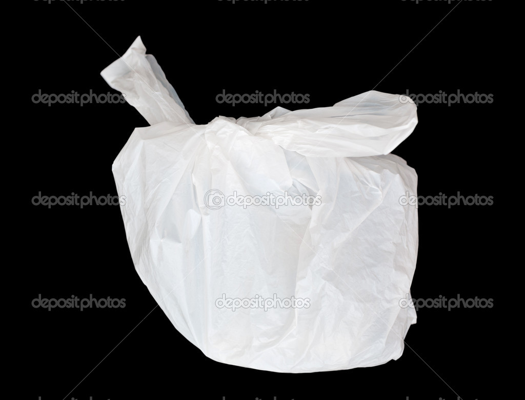 Plastic bag isolated on black  — Stock Photo #11601091