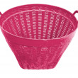 Empty plastic garbage basket isolated on white with clipping path — 图库照片 #11807994