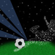 Stock Photo: Abstract soccer player shot ball