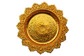 Top view of Thai style golden tray — Stock Photo