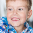 Close up of smiling boy — Stok fotoğraf