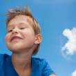Little boy winking — Stock Photo