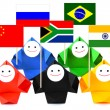 Conceptual image of international relations and BRICS — Stock Photo #11340789