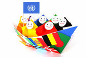 Conceptual image of international relations, UN, and cooperation — Foto de Stock