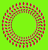Optical illusion with circles made from dried fruits — Stock Photo