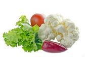 Fresh vegetables isolated on white.#1 — Stock Photo