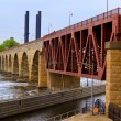Stock Photo: Stone Arch Bridge