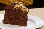 German Chocolate Fudge Cake — Stock Photo