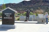 Korean War Memorial, Cedar City Utah — Stock Photo