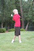 Young determined male golfer. — Stock Photo
