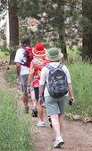 Three hiking baby boomers — Stock Photo