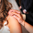 Bride with parents — Stock Photo