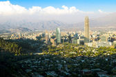 Santiago cityscape daylight — Stock Photo