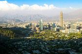 Santiago cityscape daylight — Stock Photo