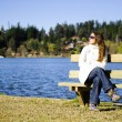 Sunbath at the lake — Stock Photo #11477641