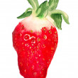 Stock Photo: Watercolor image of strawberry
