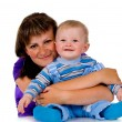 Mother hugging a small child — Stock Photo