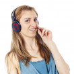 Girl listening to music — Stock Photo #11996578