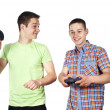 Two guys playing the game — Stock Photo