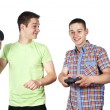 Two guys playing the game — Stock Photo #11997057
