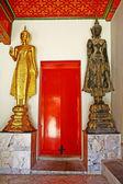 Buddharupa dourado e preto buddharupa — Foto Stock