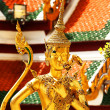 Thai sculpture at  Wat Phra Kaeo, Bangkok - Foto Stock
