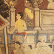 Old thai paintings on the walls. — Stock Photo