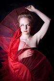 Red geisha — Stock Photo