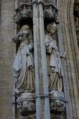 Gotiska staty katedralen i belgien — Stockfoto