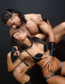 Beautiful pair of erotic image — Stock Photo