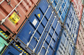 Wall of containers — Stock Photo