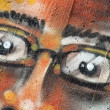 Stock Photo: Abstract graffiti face