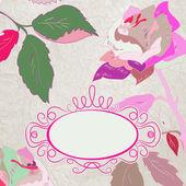 Ρομαντική floral με vintage τριαντάφυλλα. Eps 8 — Διανυσματικό Αρχείο