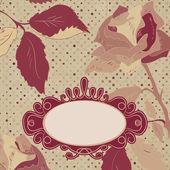 Florais backgrounds com rosas vintage. eps 8 — Vetor de Stock