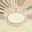 Stock Vector: Template with retro sun burst and olkdot. EPS 8