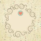Valentijn kaart met hart. eps 8 — Stockvector