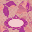 Floral Backgrounds mit Vintage Rosen. EPS 8 — Stockvektor