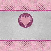 心とバレンタイン カード。また eps 8 が含まれています — ストックベクタ