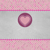 Valentine karta se srdcem. a také zahrnuje eps 8 — Stock vektor