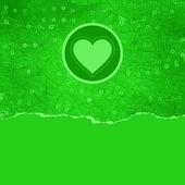 Tarjeta de san valentín con corazón. eps 8 — Vector de stock