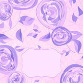 Vintage rose floral card (not auto-traced). EPS 8 — Wektor stockowy
