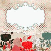 Romantic elegant floral with vintage roses. EPS 8 — Cтоковый вектор