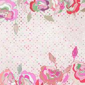 Ρομαντικό, κομψό floral με vintage τριαντάφυλλα. Eps 8 — Διανυσματικό Αρχείο