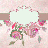 Romantic elegant floral with vintage roses. EPS 8 — Vector de stock
