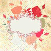 ロマンチックなエレガントなビンテージのバラの花。eps 8 — ストックベクタ